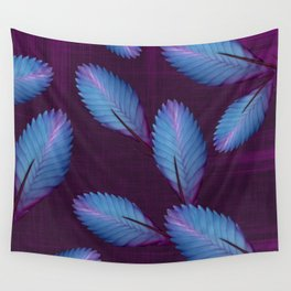 Tillandsia in dark purple Wall Tapestry