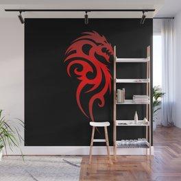 Dragon Tribal Symbol Wall Mural