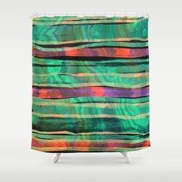 green&orange Shower Curtain