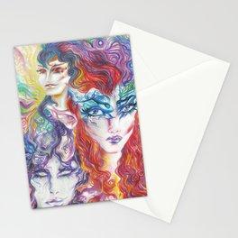 Rainbow Elves  Stationery Cards
