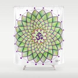 Succulent Mandala Illustration by Shower Curtain