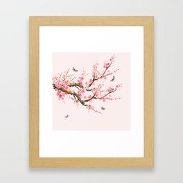 Pink Cherry Blossom Dream Framed Art Print