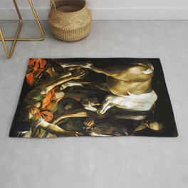 Caravaggio Conversion on the Way to Damascus Rug