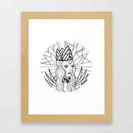 Ice Queen Framed Art Print