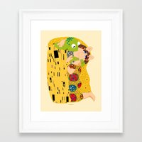 muppets Framed Art Prints featuring Klimt muppets by tuditees