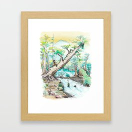 A Woman and Her Coffee Framed Art Print