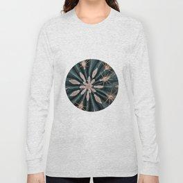 Cactus Plant Close-up Photogrpahy Round Photo Long Sleeve T-shirt