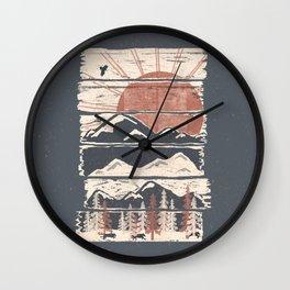 Winter Pursuits... Wall Clock
