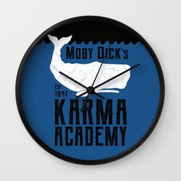 The Moby Dick Academy of Karma Wall Clock