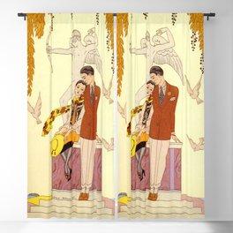 George Barbier - Automne (art deco print) Blackout Curtain