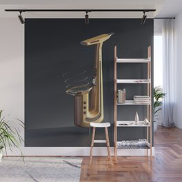Jazzy Letter J Wall Mural
