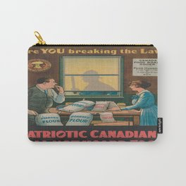 Vintage poster - Food Hoarding Carry-All Pouch