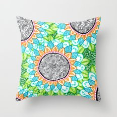 Sharpie Doodle 4 Throw Pillow