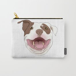 White/Brown Pitbull Carry-All Pouch