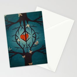 heart tree Stationery Cards