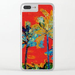 Mary's Palm Trees Clear iPhone Case