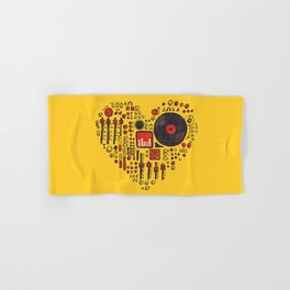 Music in every heartbeat Hand & Bath Towel