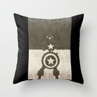 america Throw Pillows featuring America by Christophe Chiozzi