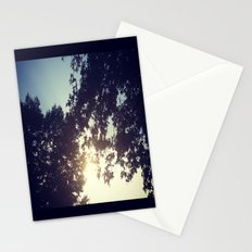 peak-a-boo sun Stationery Cards