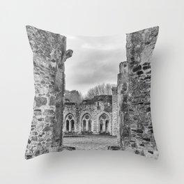 Netley Abbey. Throw Pillow