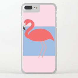 Flamingo -the pink lady Clear iPhone Case