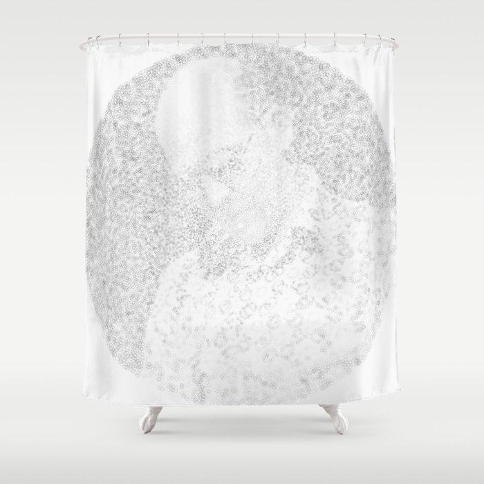 [De]generated ArcFace - Hunter S. Thompson Shower Curtain