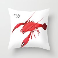 cancer Throw Pillows featuring Cancer by Rejdzy