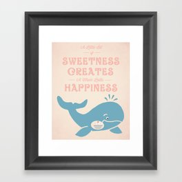 A Little Sweetness Framed Art Print