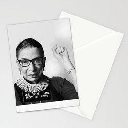 RBG Ruth Bader Ginsburg Drawing Jane Fonda Mug Shot Mugshot Stationery Cards