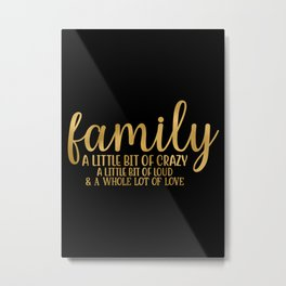 Family Magical Ingredients Metal Print