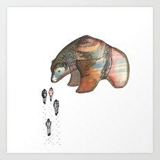Bear Investigations Art Print
