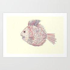 3d piranha Art Print