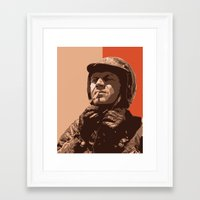 steve mcqueen Framed Art Prints featuring S McQueen by Rich Lee