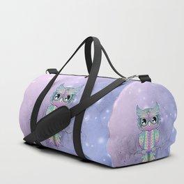 Wonderful colorful mandala owl Duffle Bag