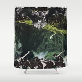 High and Hallowed Shower Curtain
