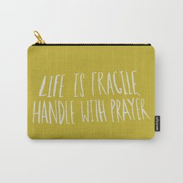 Handle with Prayer x Mustard Carry-All Pouch