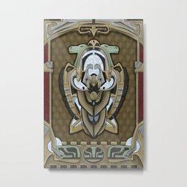 Claddagh Hawk - Celtic Inspired Art Deco Metal Print