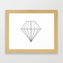 Diamond Framed Art Print