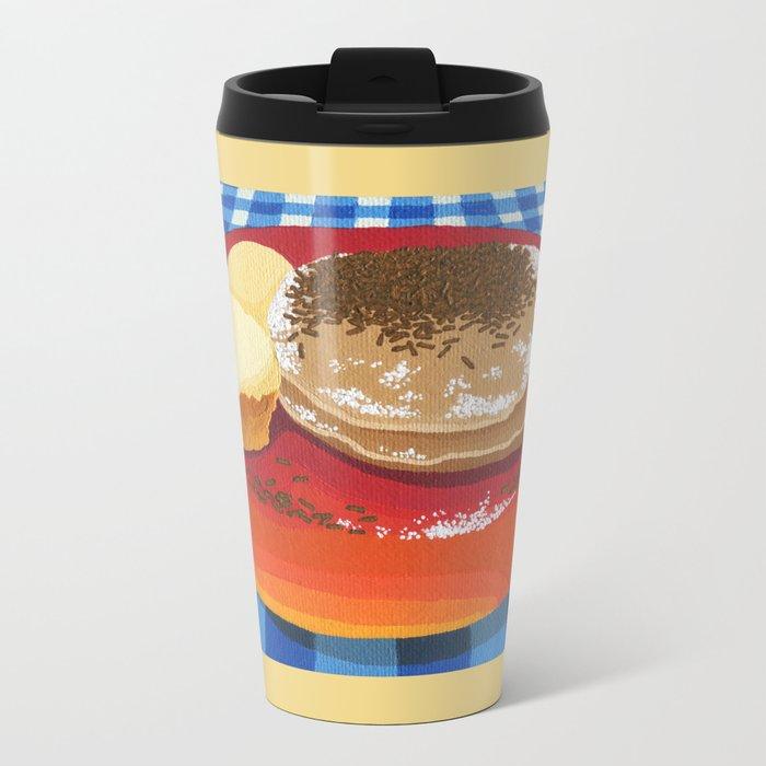 Pancakes Week 15 Metal Travel Mug