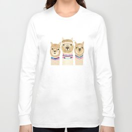 Colorful Alpaca Collage Long Sleeve T-shirt