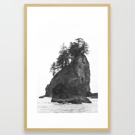 Rocks at Second Beach in Olympic National Park, Washington, USA Framed Art Print