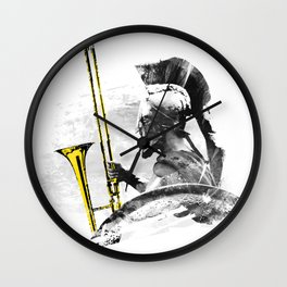 Trombone Warrior Wall Clock