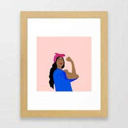 GIRL BOSS Framed Art Print
