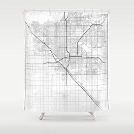 Minimal City Maps - Map Of Fresno, California, United States Shower Curtain