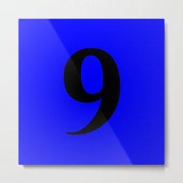 9 (BLACK & BLUE NUMBERS) Metal Print