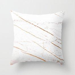 Rose Gold Marble #society6 #decor #buyart Throw Pillow