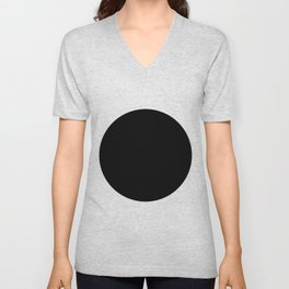 The Circle – Black Unisex V-Neck