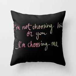 i'm not choosing -mer Throw Pillow