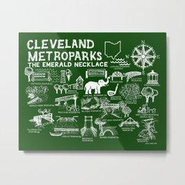 Cleveland Metroparks Map Metal Print