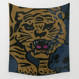 Golden Tiger Wall Tapestry